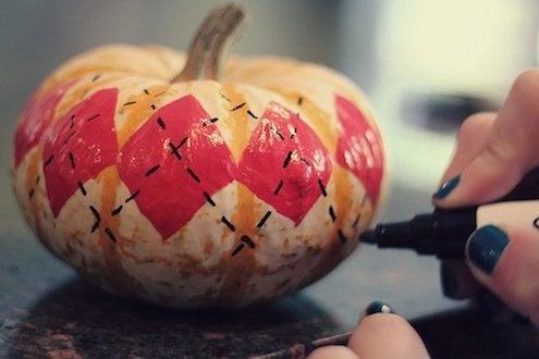 Pumpkin Argyle
