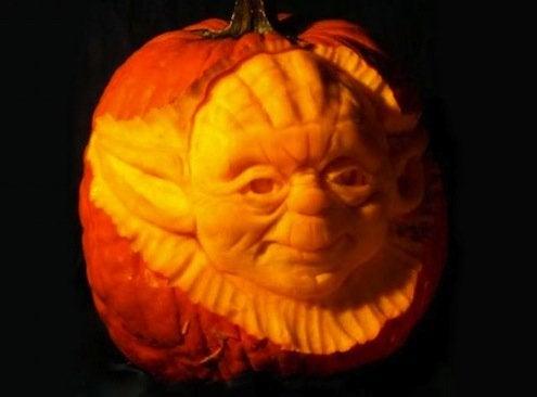 Pumpkin Portrait Yoda