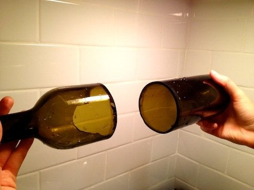 How to Cut Wine Bottles - Cut Wine Bottle 2