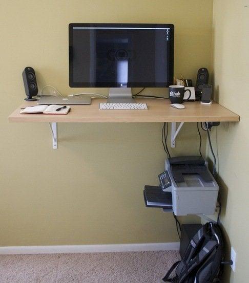 6 diy standing desks bob vila rh bobvila com Desk Risers for Standing Desk Wood Standing Desk Plans