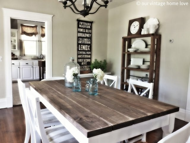 DIY Farmhouse Table Plans - Our Vintage Home Love