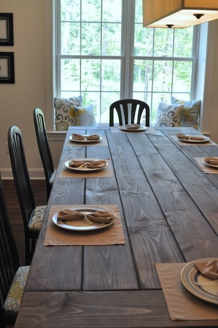 DIY Farmhouse Table Plans - East Coast Creative