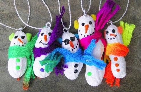 DIY Peanut Ornaments