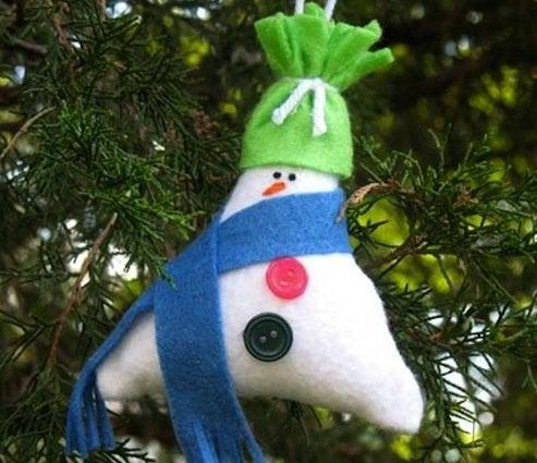 DIY Stuffed Snowman Ornaments