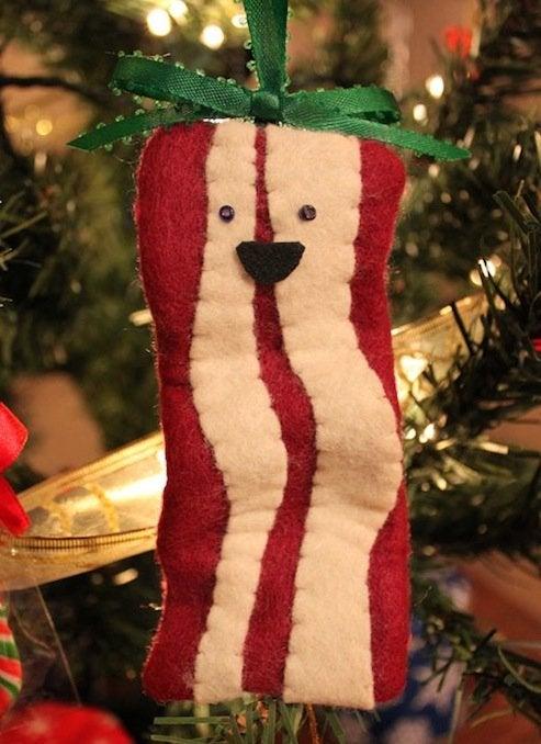 DIY Bacon Ornaments