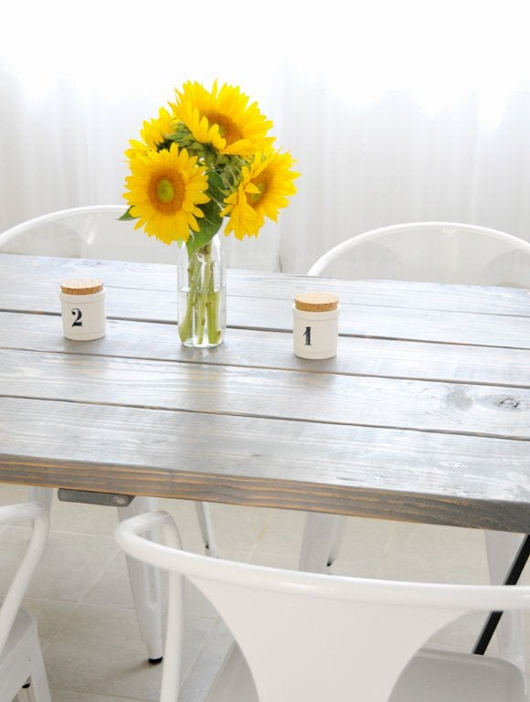 DIY Farmhouse Table Plans - Creature Comforts