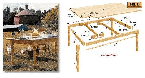 DIY Farmhouse Table Plans   American Woodworker