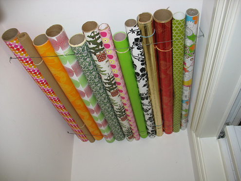How to Store Holiday Decorations - Wrapping Paper