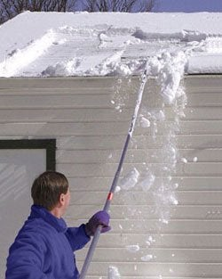 roof rake to remove snow from roof