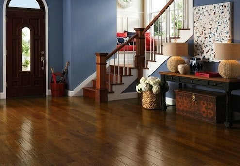 Hand-scraped AmericanScrape flooring from Armstrong