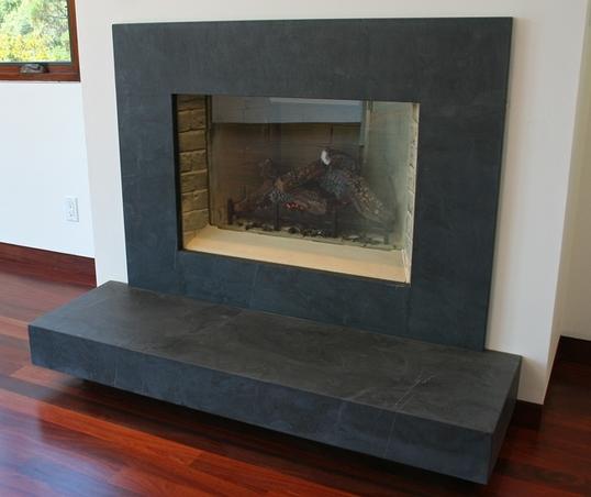 fireplace slate. How to Clean Slate  Fireplace Surround Bob Vila s Blogs