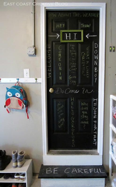 Chalkboard Paint DIY - Door
