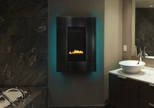 Heat & Glo's Revo Series wall-mounted fireplace