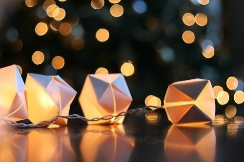 String Lights DIY - Paper Lanterns
