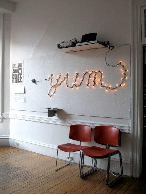 String Lights DIY - Light Up Letters