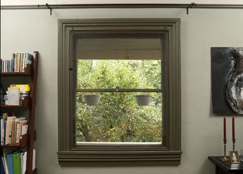 Interior Storm Windows   Brown Compression Tube Edging
