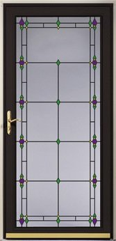 decorative glass storm door