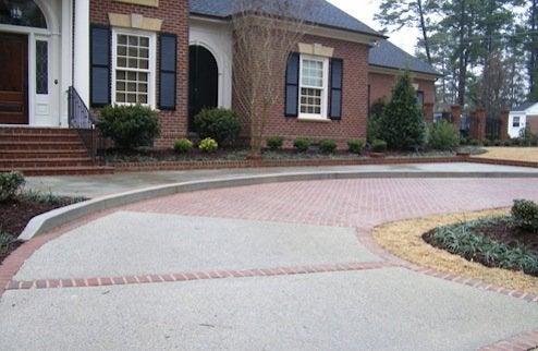 Driveway Design - Brick and Concrete