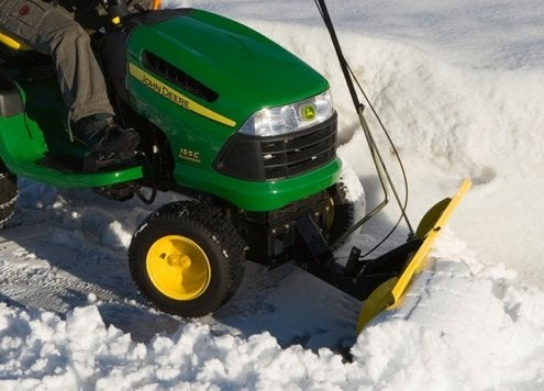 Lawn Tractor Snow Plow Driveway