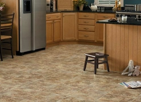 How To Clean Vinyl Flooring Bob Vila - Shiny lino flooring