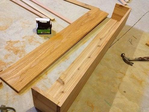 constructing the cedar window box/planter.
