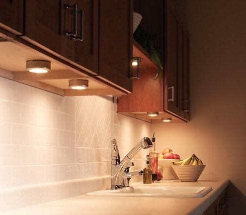 installing under cabinet lighting Installing Under CabiLighting   Bob Vila installing under cabinet lighting