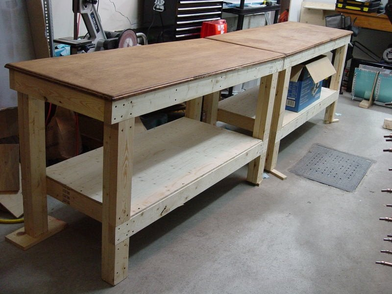 workbench plans diy workbench from the experimental aircraft association - How To Build A Garage Workbench