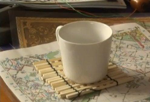 Repurpose Chopsticks - Coasters