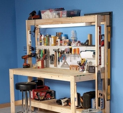 Workbench plans 5 you can diy in a weekend bob vila for Cost to build your own garage