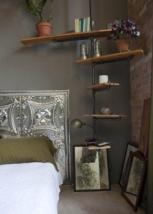 Tin Ceiling Tile Diy Headboard