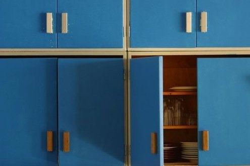 Kitchen Cabinet Refacing - Painting Doors
