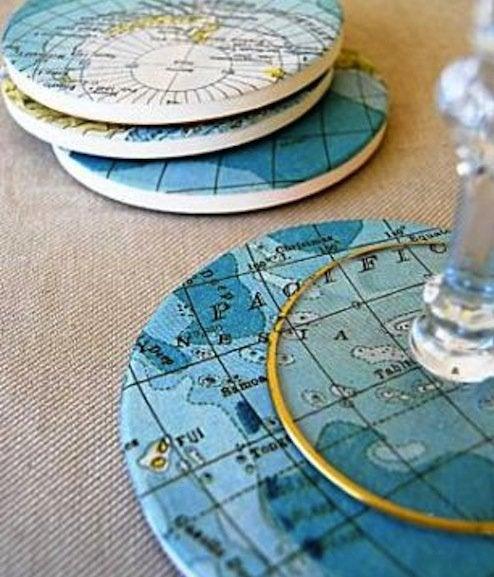 Map DIY - Coasters