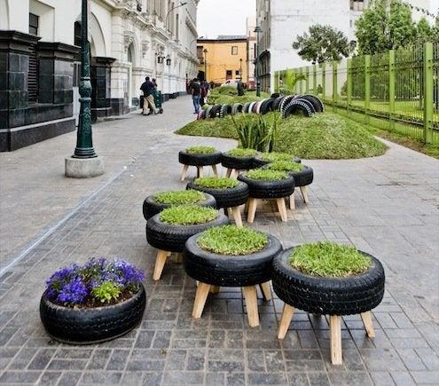Reuse Tires - Planters