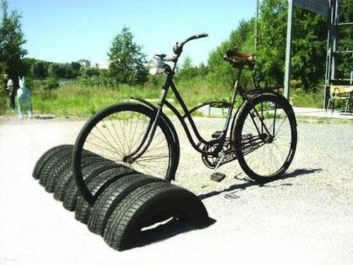 Reuse Tires - Bike Storage