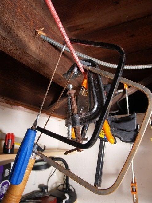 Workshop Storage - Bungee Cord Hangers