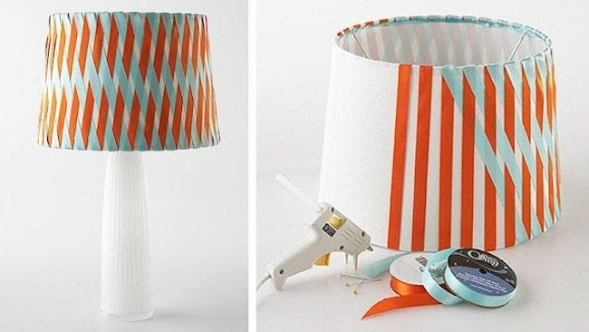 DIY Lampshades - No Sew Ribbon Wrapped