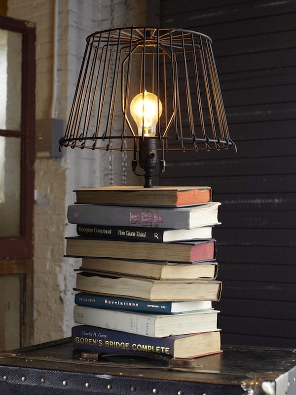 Repurpose Books - Table Lamp