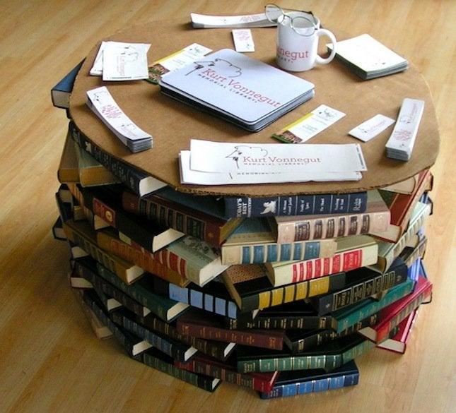Repurpose Books - DIY Table