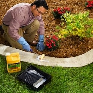 How To Make Concrete Garden Edging   Sealer