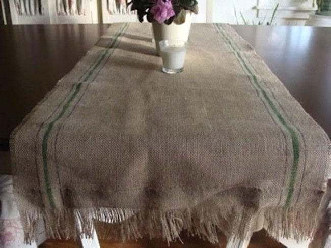 Burlap DIY - Table Runner
