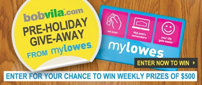 Lowes giveaway bobvila