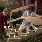 Building porch stairs