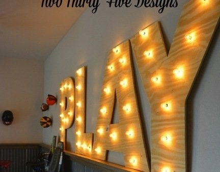 Diy plywood marquee letters