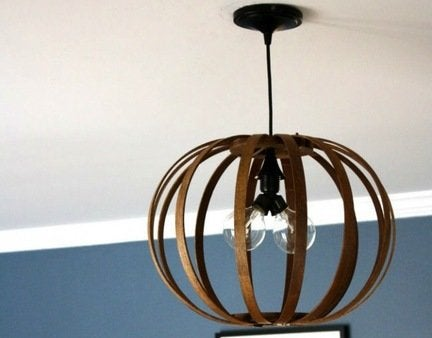 Diy pendant light open
