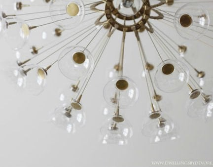 Sputnik chandelier end