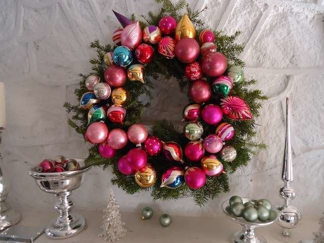 How To: Make a Vintage Ornament Wreath