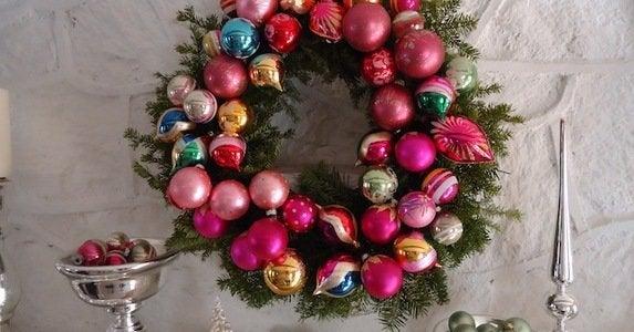 How to vintage ornament wreath nicole esposito polly