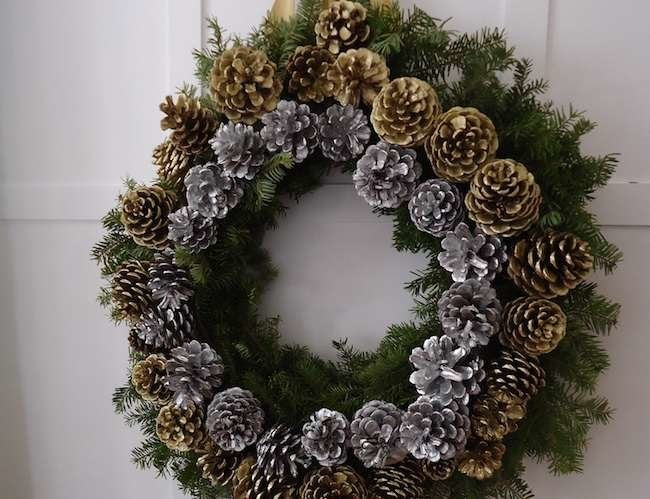 How To: Make a Pinecone Holiday Wreath
