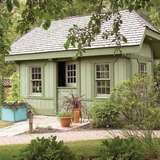 Family home plans garden shed