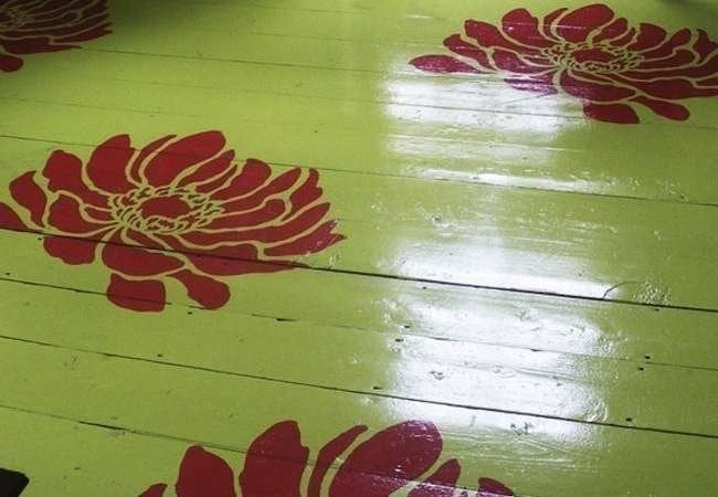 Stenciled floors the best of today 39 s designs bob vila for Floor stencils